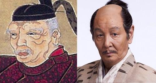 本多正信の肖像画と近藤正臣の比較(『真田丸』キャスト)