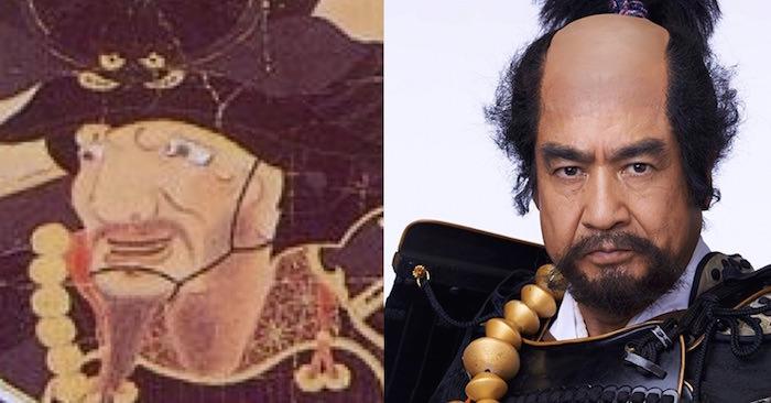 本多忠勝の肖像画と藤岡弘、の比較(『真田丸』キャスト)の拡大画像