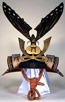 江戸時代の兜『鉄錆地六枚張突盃形兜(てつさびじろくまいばりとっぱいなりかぶと)』