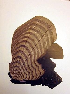 土佐山内家の兜『板屋貝形兜』