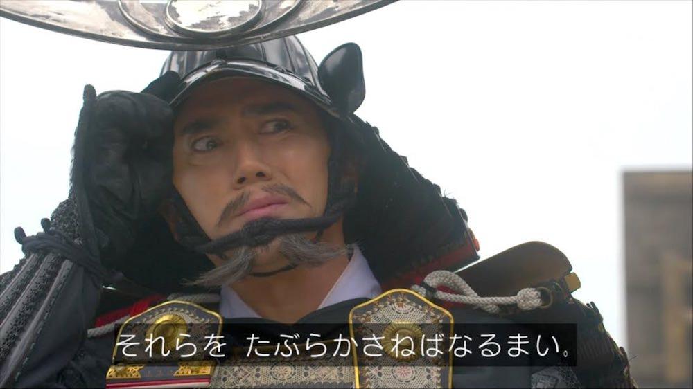 悪い顔をする本木雅弘演じる斎藤道三(『麒麟がくる』より)の拡大画像