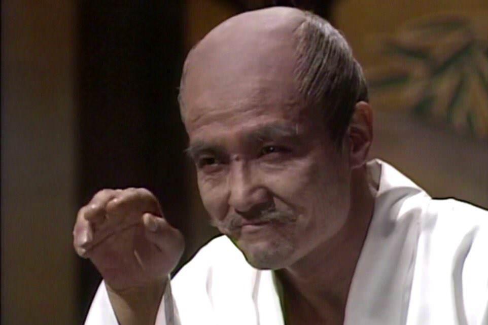 緒形拳演じる豊臣秀吉(『黄金の日々』より)の拡大画像