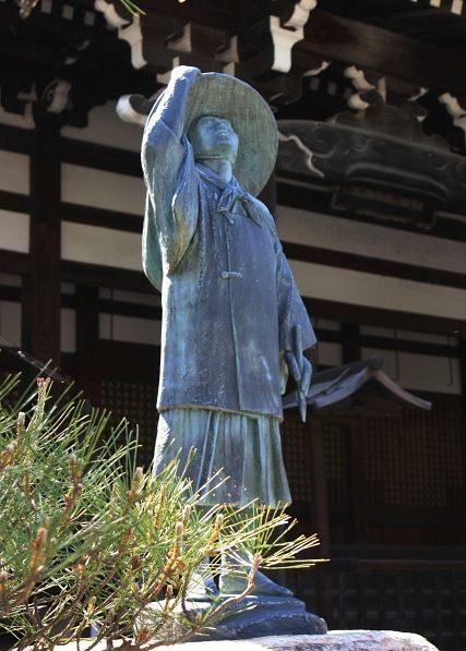 長谷川等伯像(京都の本法寺)