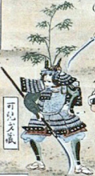 可児才蔵(『関ヶ原合戦図屏風』より)