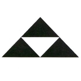 三つ鱗(読み:ミツウロコ)は北条氏の家紋