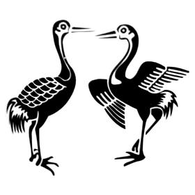 家紋『対い鶴』の画像、意味 ... : 歴史人物年表 : すべての講義